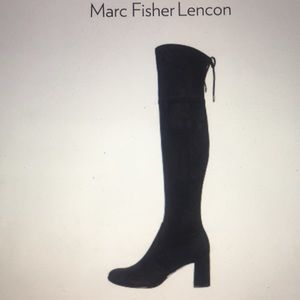 Marc Fisher Lennon Black Suede Boots